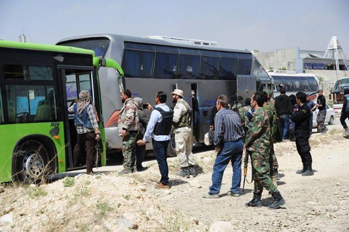 Suriyeli muhalifler Doğu Guta'dan çekiliyor
