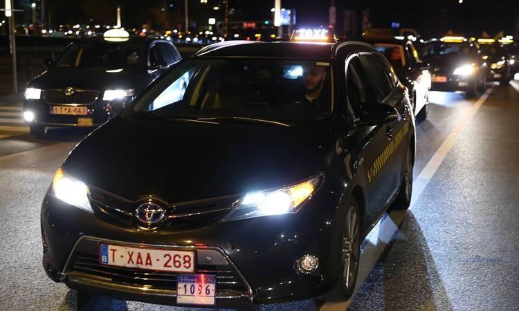 Belçika'da Uber protestosu