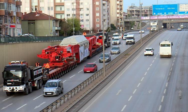 280 tekerlekli araç trafiği kapattı