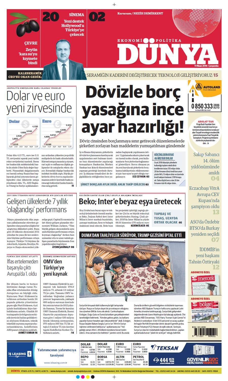 Günün gazete manşetleri (11 Nisan 2018)
