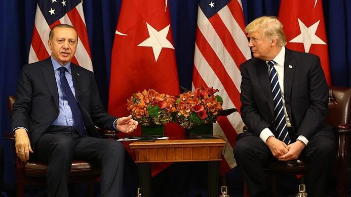 Cumhurbaşkanı Erdoğan Trump'la Suriye'yi görüştü
