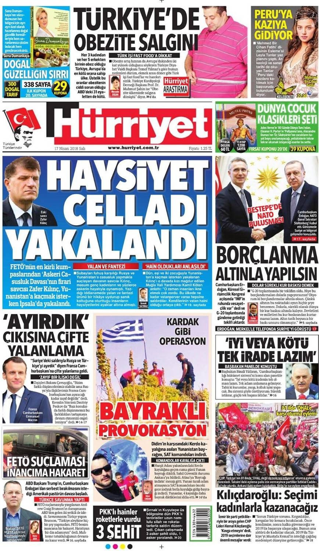 Günün gazete manşetleri (17 Nisan 2018)