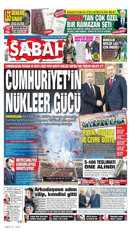 Günün gazete manşetleri (4 Nisan 2018)