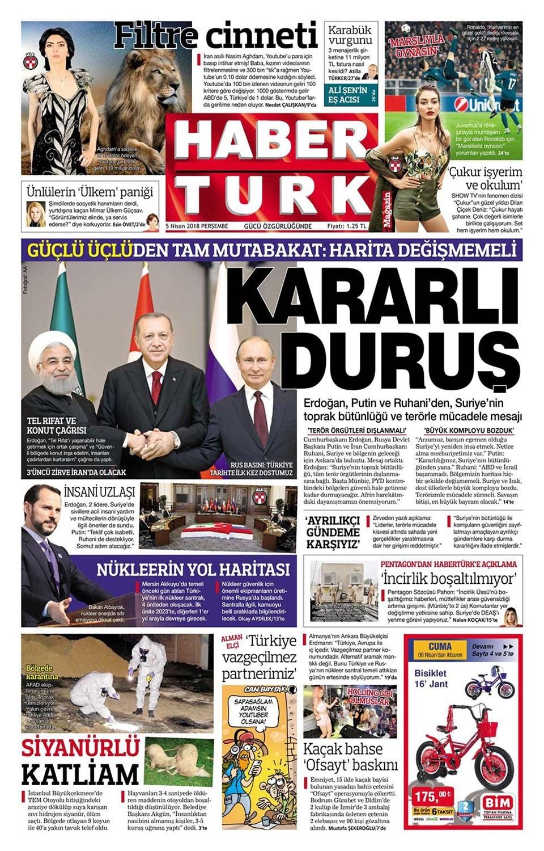 Günün gazete manşetleri (5 Nisan 2018)