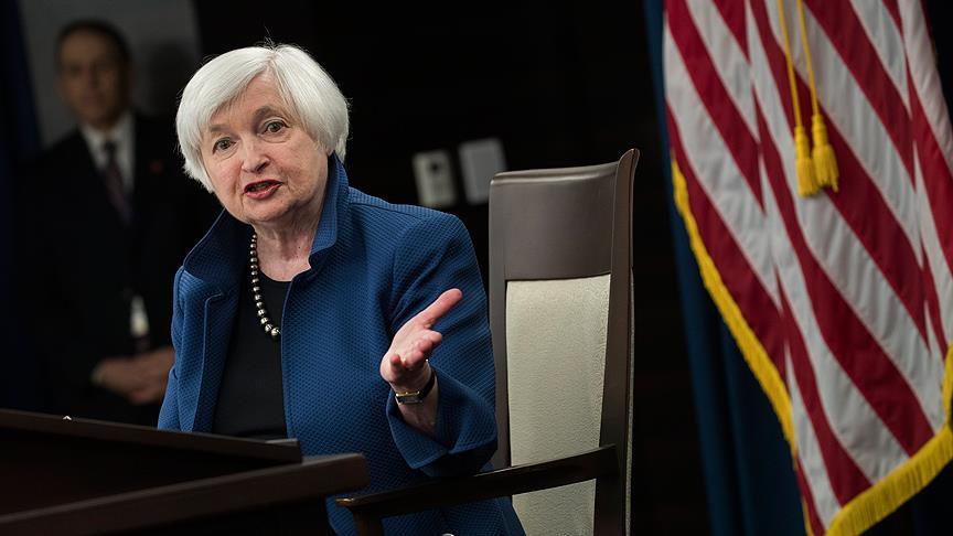 Yellen: Fed'den 3 veya 4 faiz artırımı bekliyorum