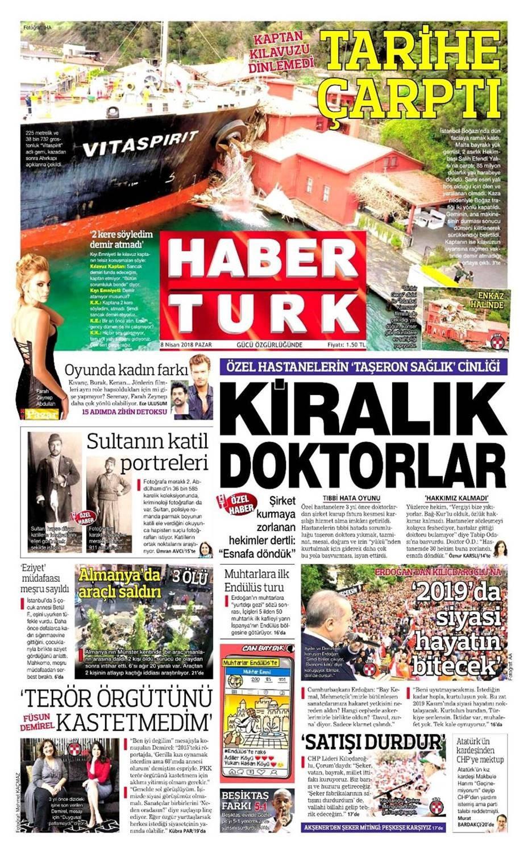 Günün gazete manşetleri (8 Nisan 2018)