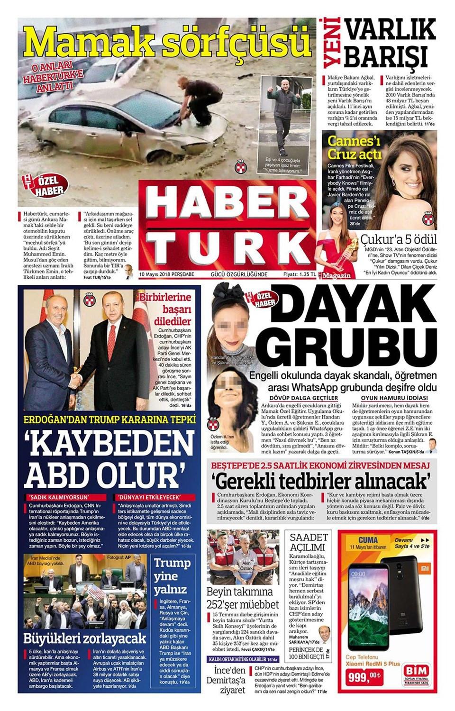 Günün gazete manşetleri (10 Mayıs 2018)