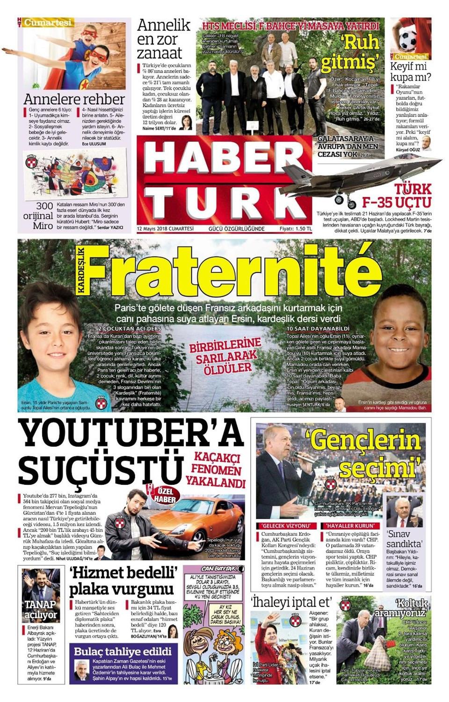 Günün gazete manşetleri (12 Mayıs 2018)