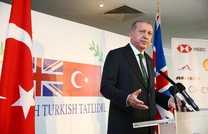 Erdoğan İngiltere'de konuştu: Birlikte üretme imkanlarını araştıralım