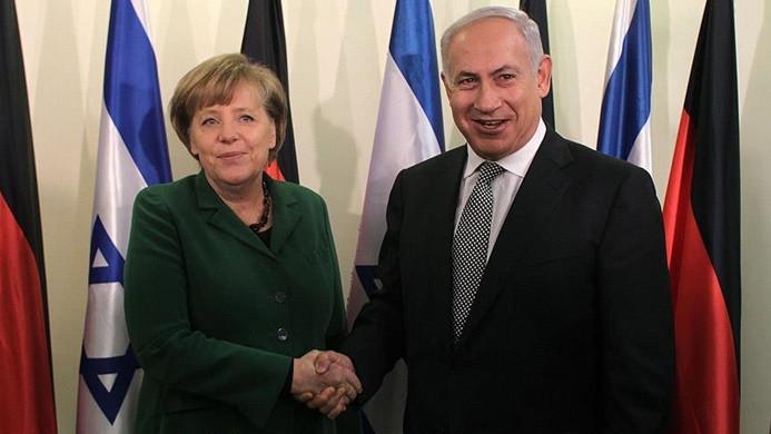 Merkel, Netanyahu ile görüştü