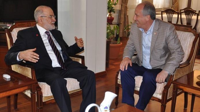 Cumhurbaşkanı adayı Karamollaoğlu ile İnce bir araya geldi