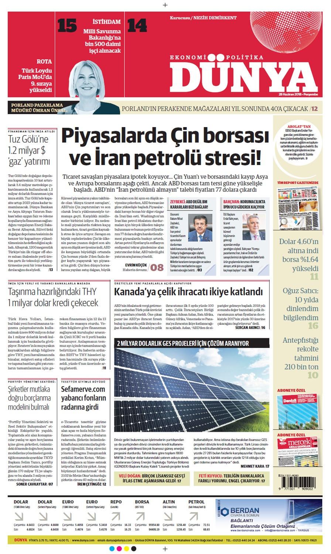 Günün gazete manşetleri (28 Haziran 2018)