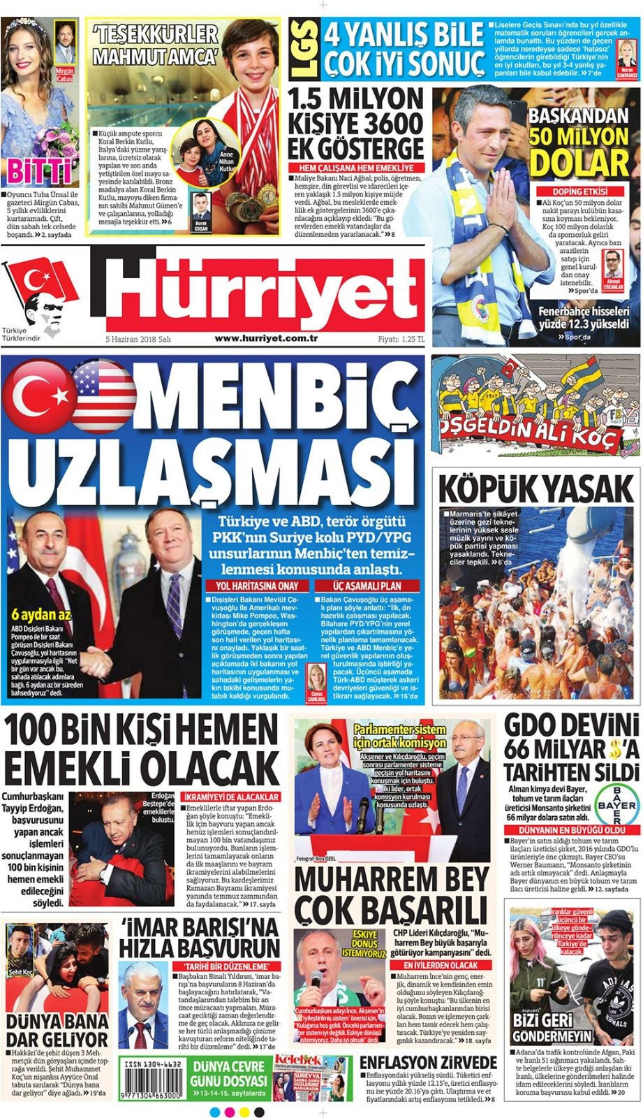 Günün gazete manşetleri (5 Haziran 2018)