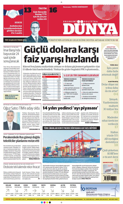 Günün gazete manşetleri (7 Haziran 2018)