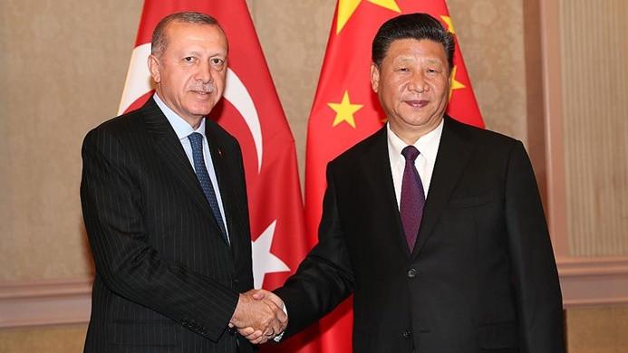 Erdoğan, Çin Devlet Başkanı Şi ile bir araya geldi