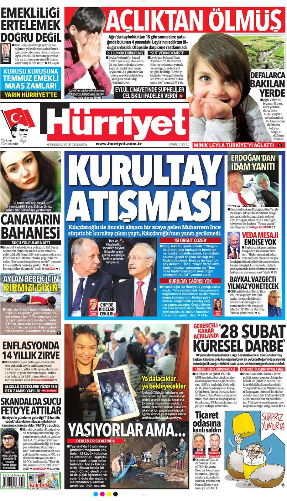 Günün gazete manşetleri (4 Temmuz 2018)