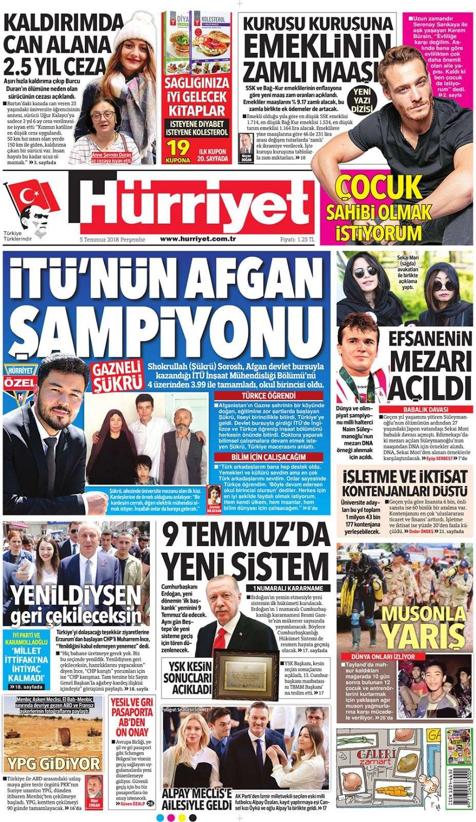 Günün gazete manşetleri (5 Temmuz 2018) - Sayfa 3