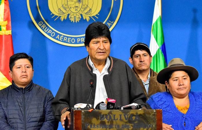 Ordunun çağrısının ardından Bolivya Devlet Başkanı istifa etti