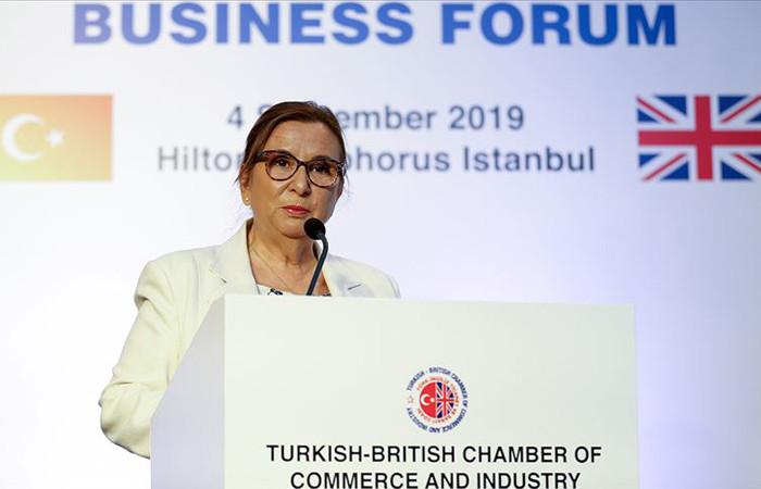 Pekcan: Brexit sonucunda da Türk-İngiliz dostluğu devam edecek