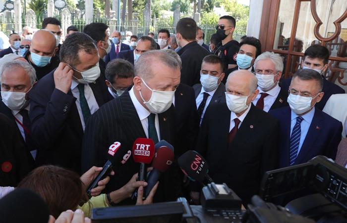 Erdoğan: Artık burası aslına döndü, camiydi tekrar cami oldu