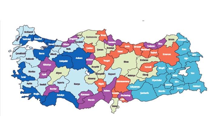 Türkiye'nin yeni yatırım teşvik haritası belirlendi