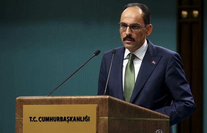 Cumhurbaşkanlığı Sözcüsü Kalın: Doğu Akdeniz'de sorunların barışçıl yollardan çözümü mümkün
