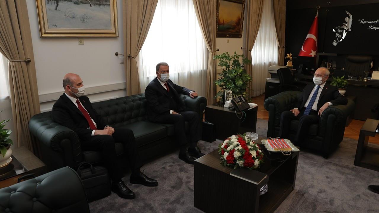 Soylu ve Akar'dan, Kılıçdaroğlu ile Akşener'e ziyaret