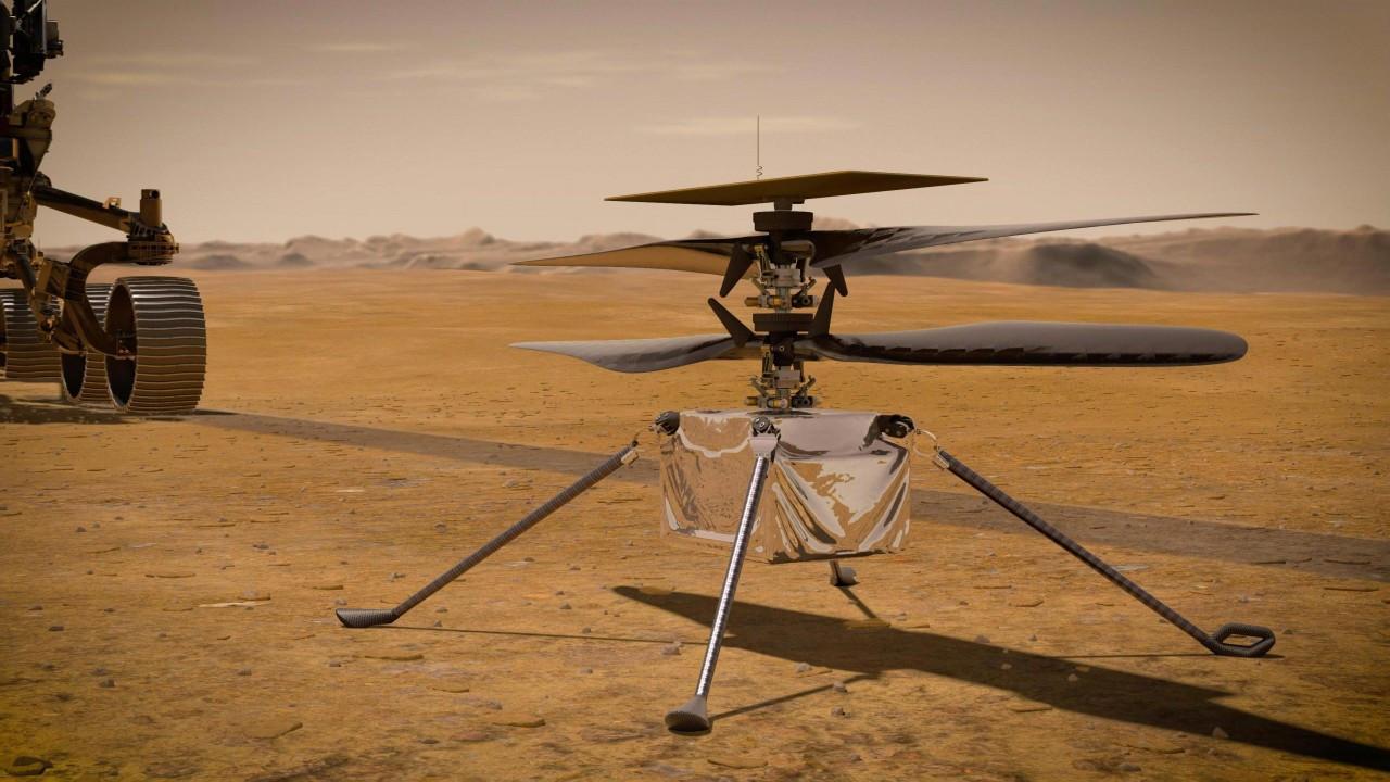 Mars'ta tarihi uçuş!