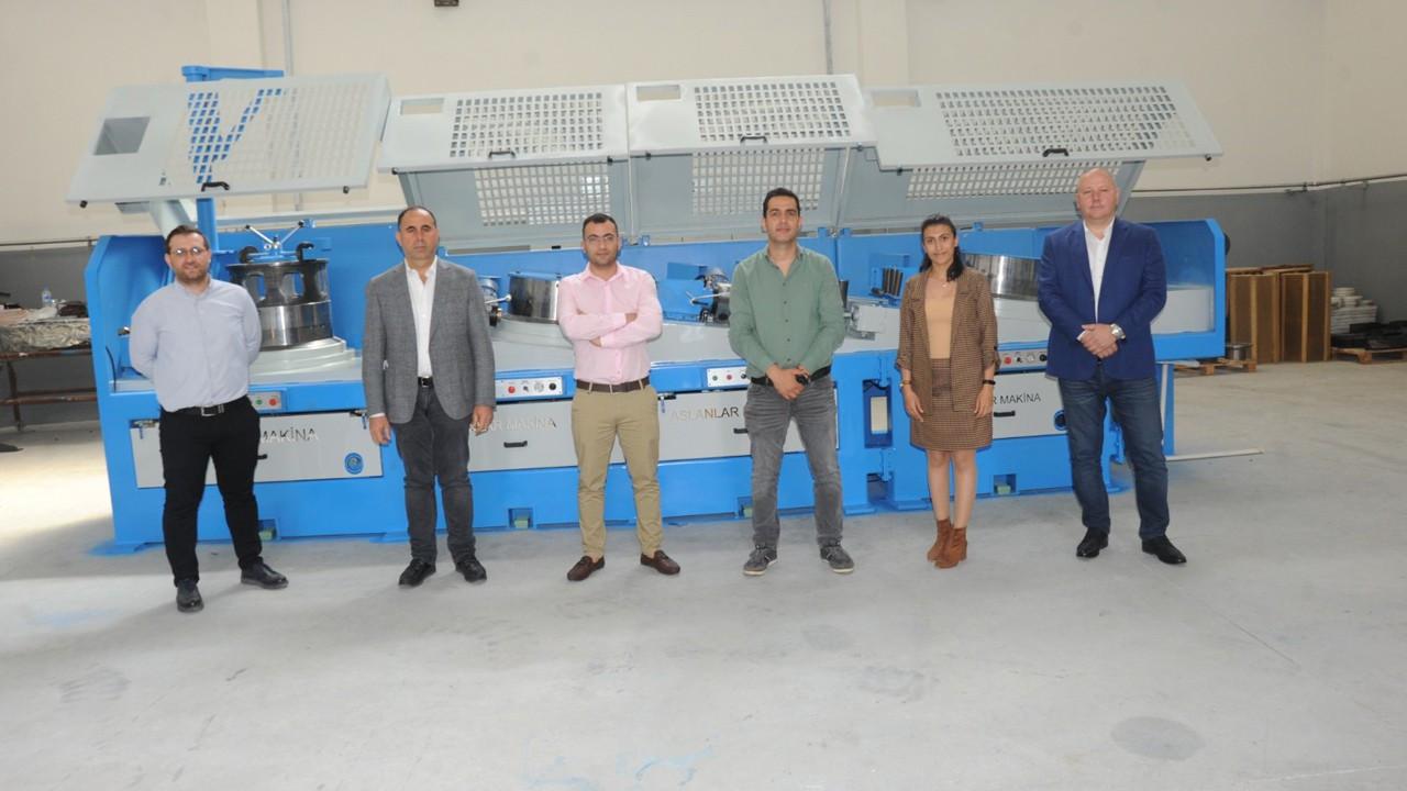 Adana'da yüzde 100 yerli tel çekme makinesi üretildi