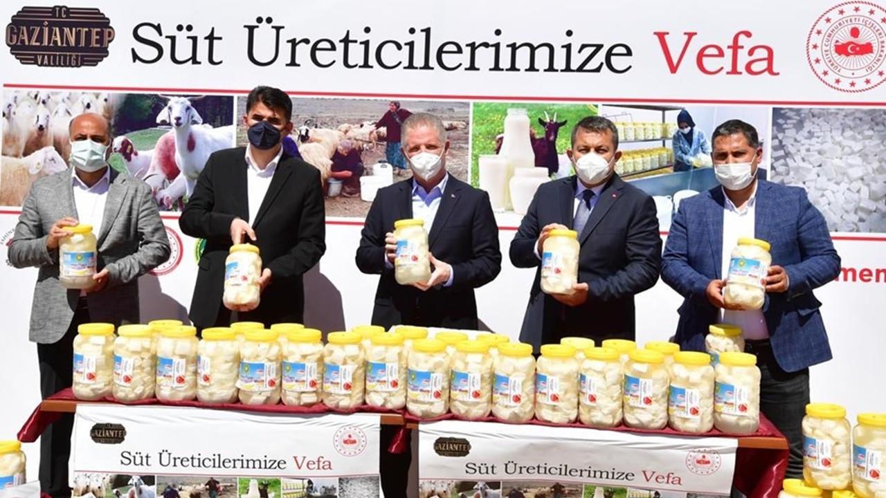 "Gaziantep Valiliği'nden ""Süt Üreticilerimize Vefa"" projesi"