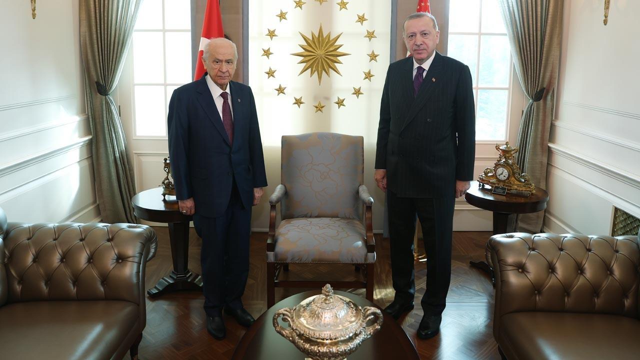 Cumhurbaşkanı Erdoğan ile Bahçeli arasındaki görüşme sona erdi