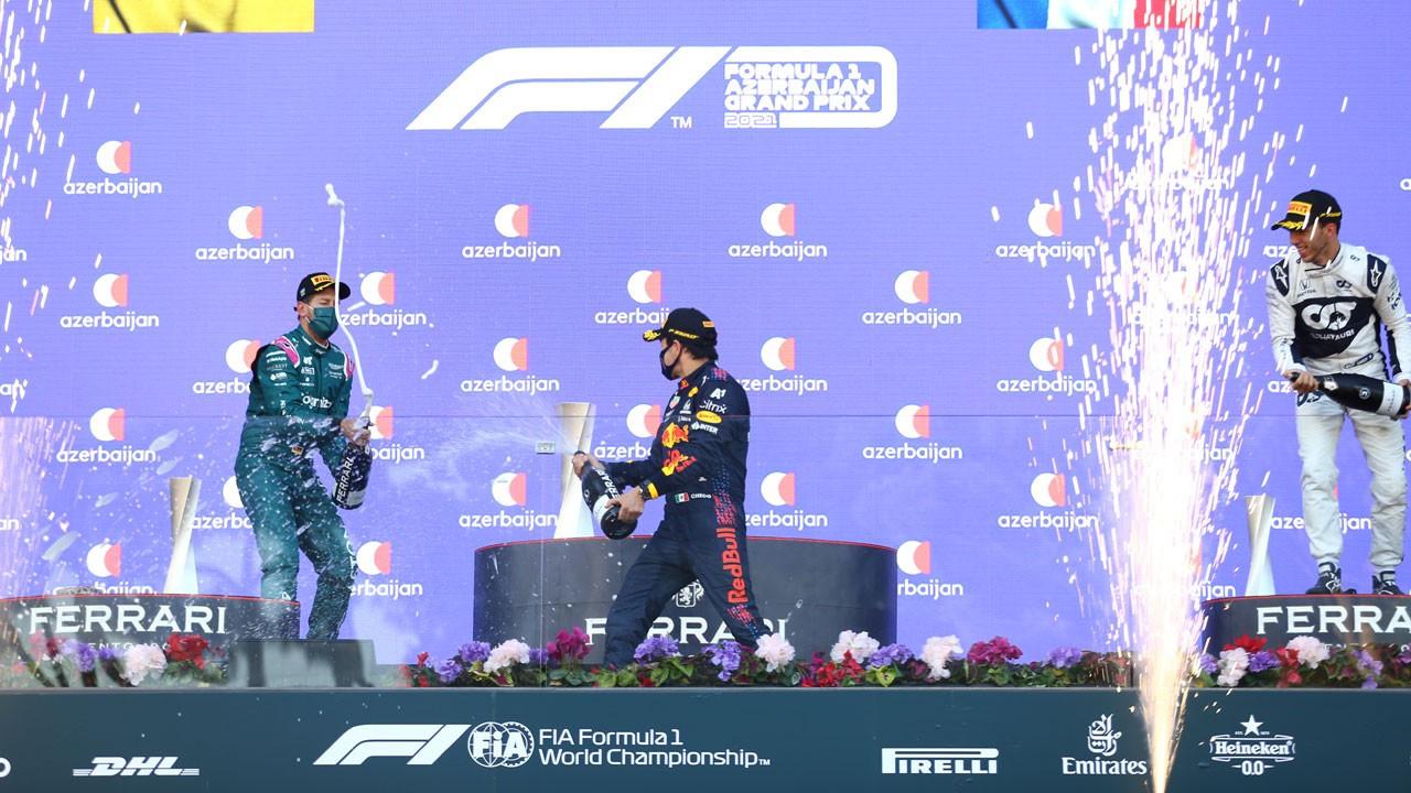 F1 Azerbaycan GP'sini Sergio Perez kazandı