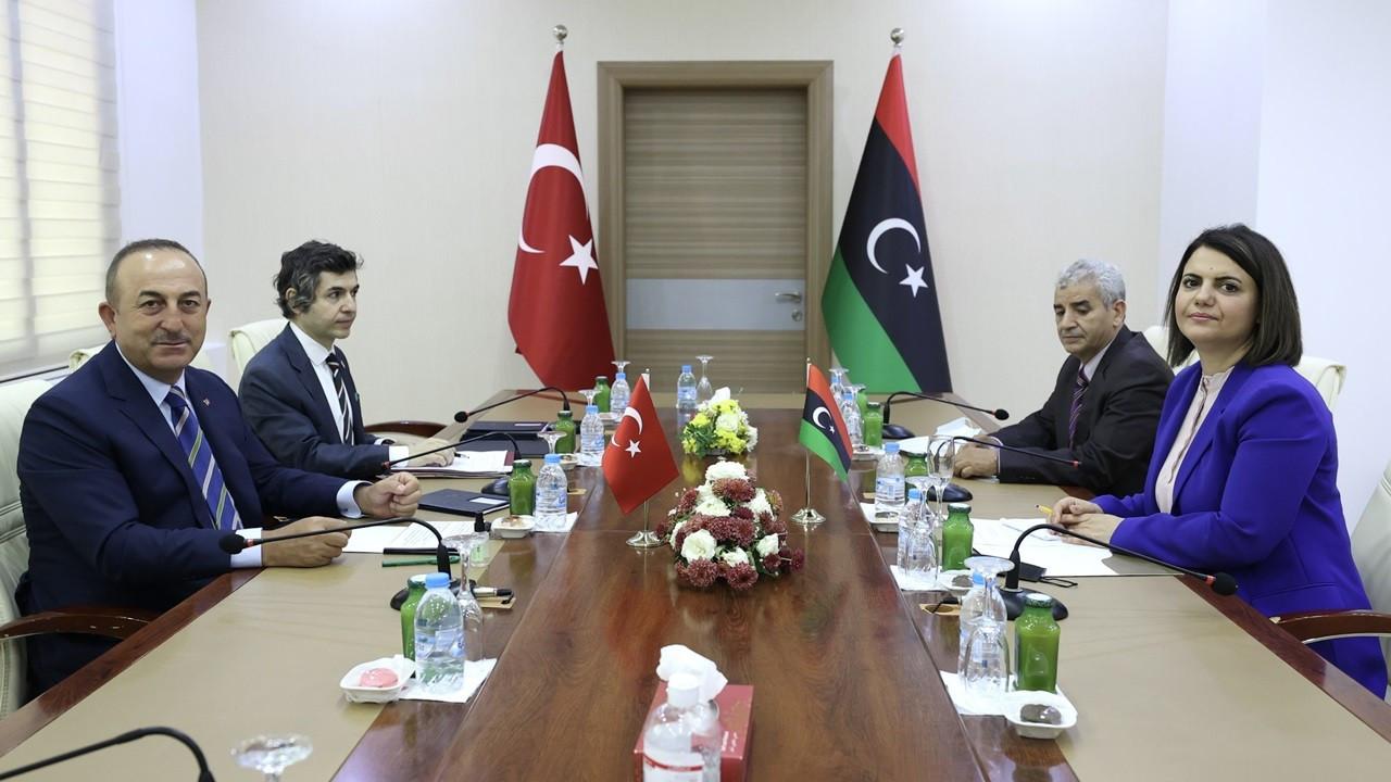 Bakan Çavuşoğlu, Libyalı mevkidaşıyla görüştü