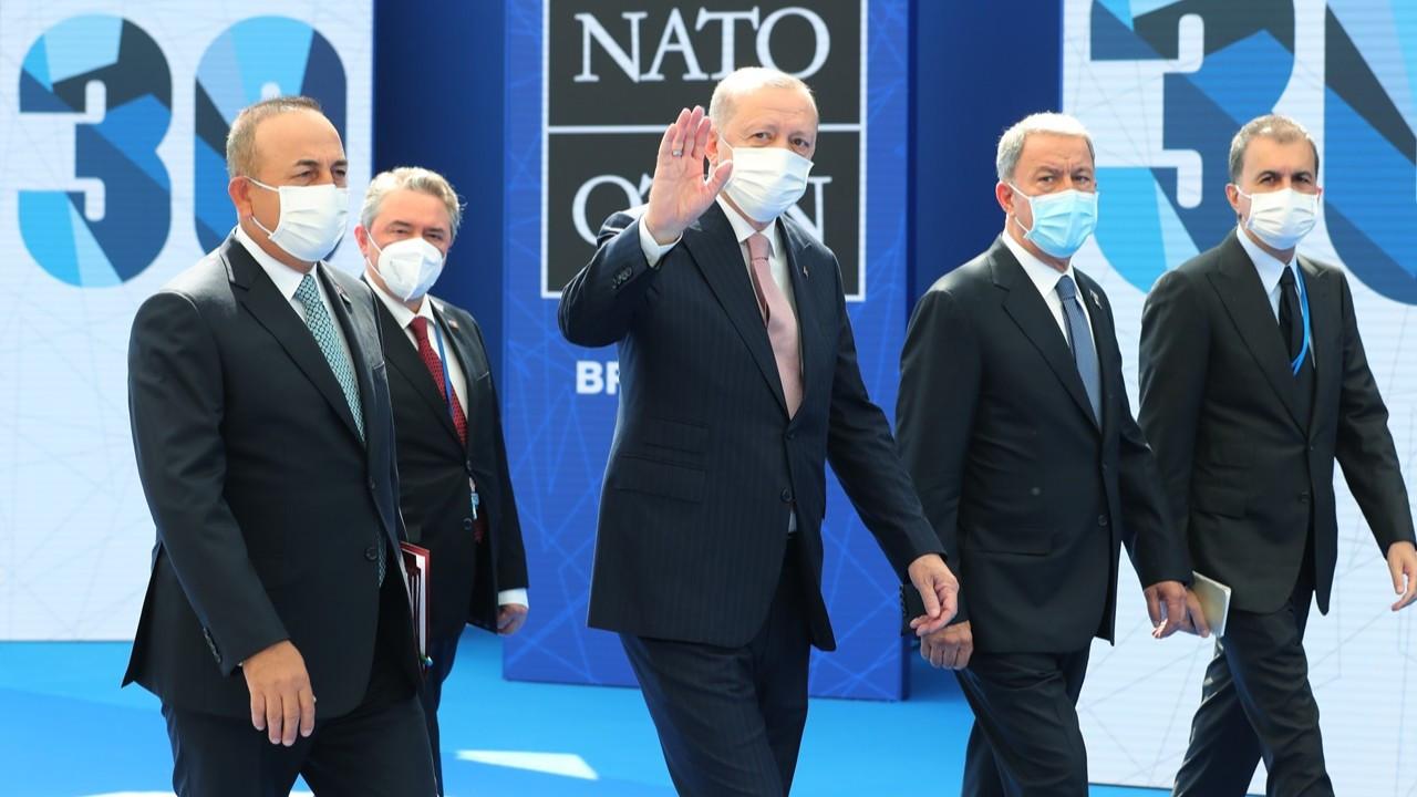 Erdoğan Brüksel'de: Macron, Johnson ve Merkel ile görüştü