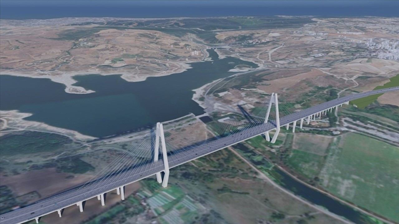 'Kanal İstanbul'un ilk köprüsünün çalışmaları sürüyor'