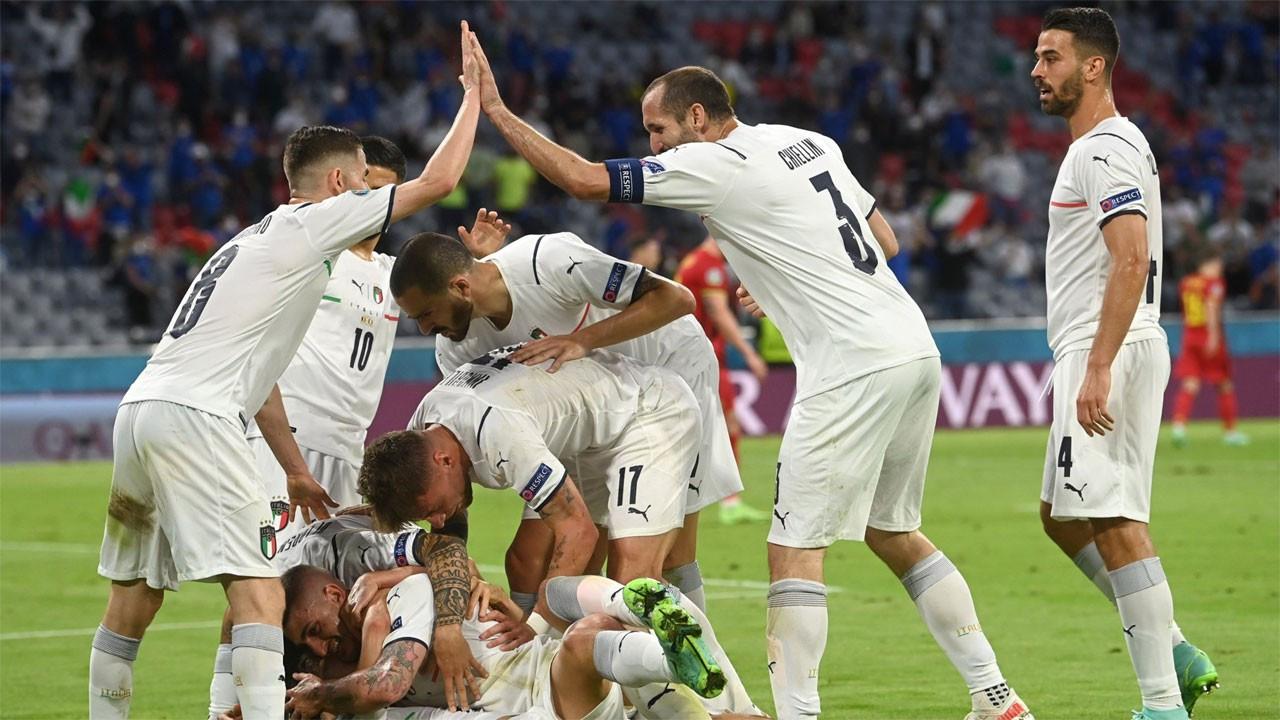 Belçika'yı 2-1 yenen İtalya yarı finalde
