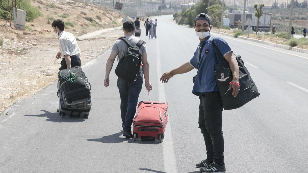 Suriyeliler bayram için ülkelerine geçiyor