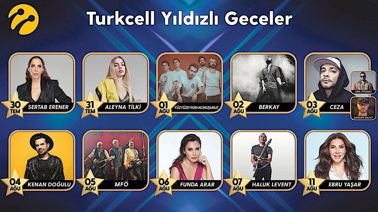 Turkcell'in 'Yıldızlı Geceler' konserleri başlıyor