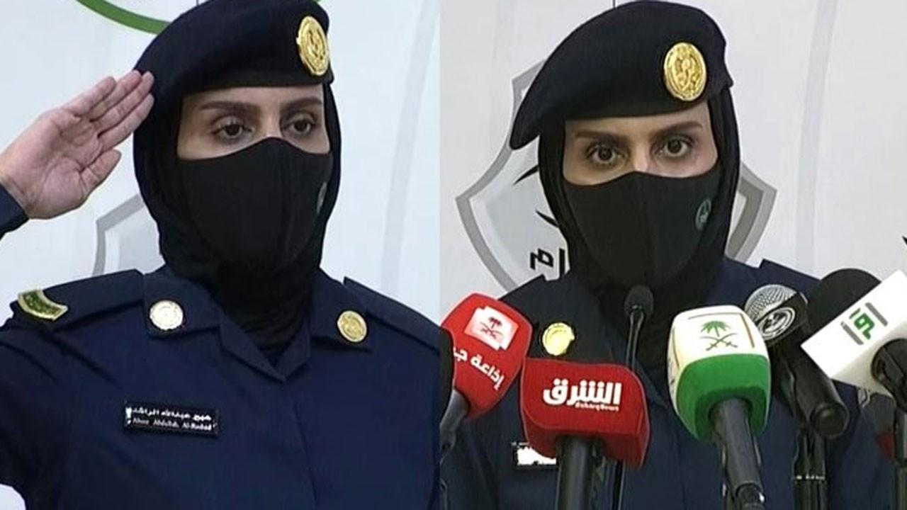 S. Arabistan'da kadın asker, hac basın toplantısı düzenledi