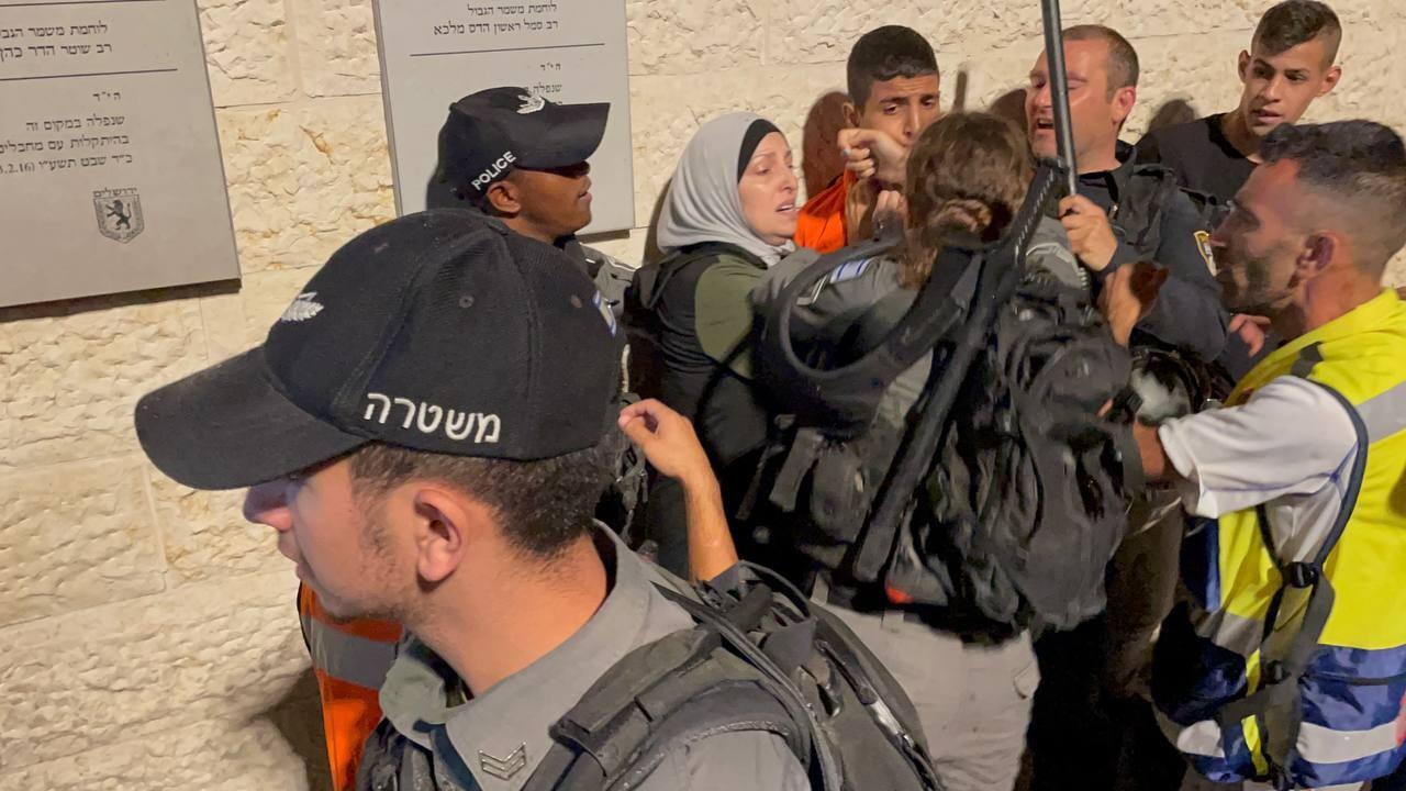 İsrail polisi, Filistinlilere müdahale etti
