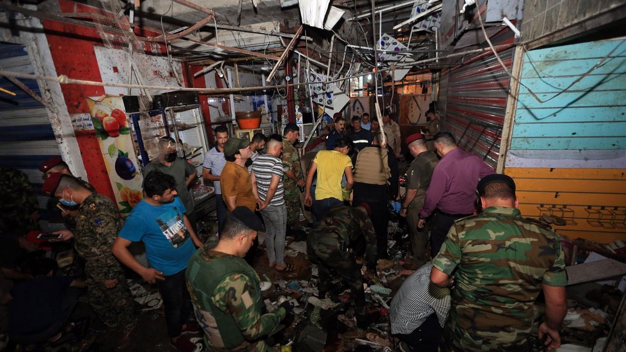 Bağdat'ta halk pazarında patlama: 30 ölü