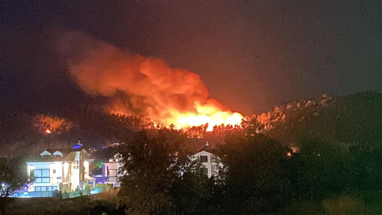 Fethiye Ölüdeniz'de  orman yangını çıktı