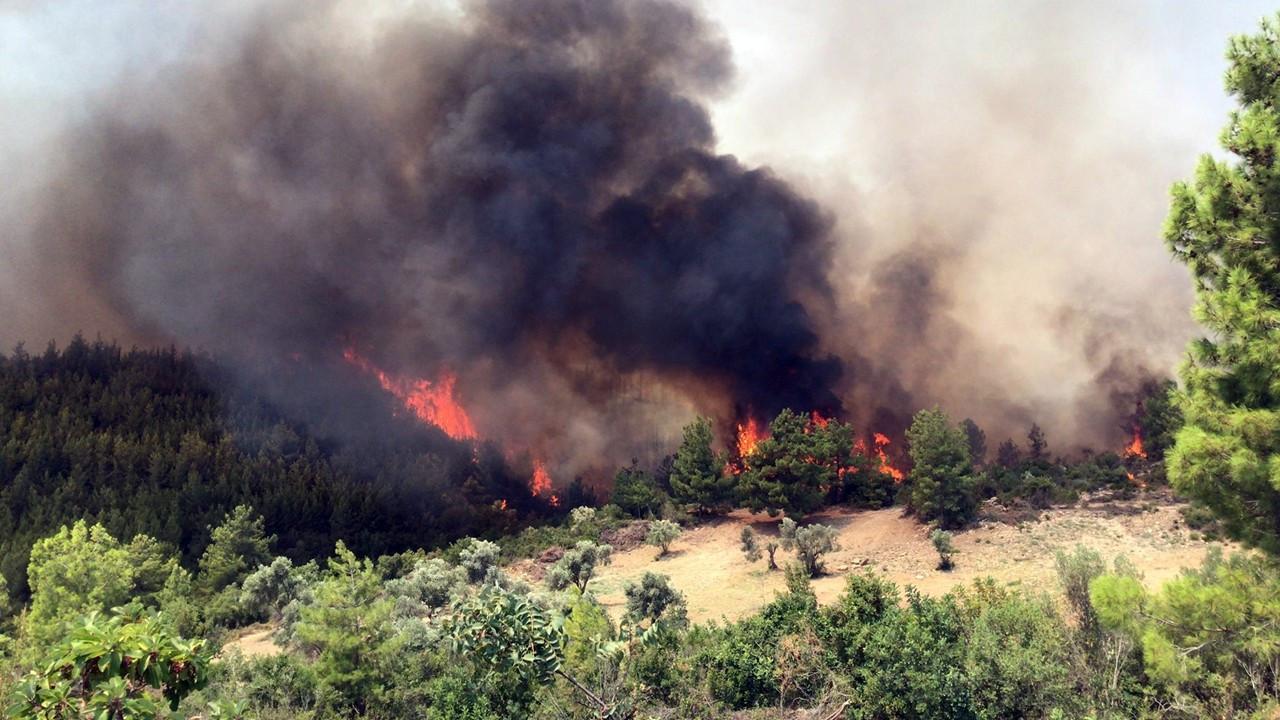 Antalya ve Muğla'da yangına müdahale sürüyor