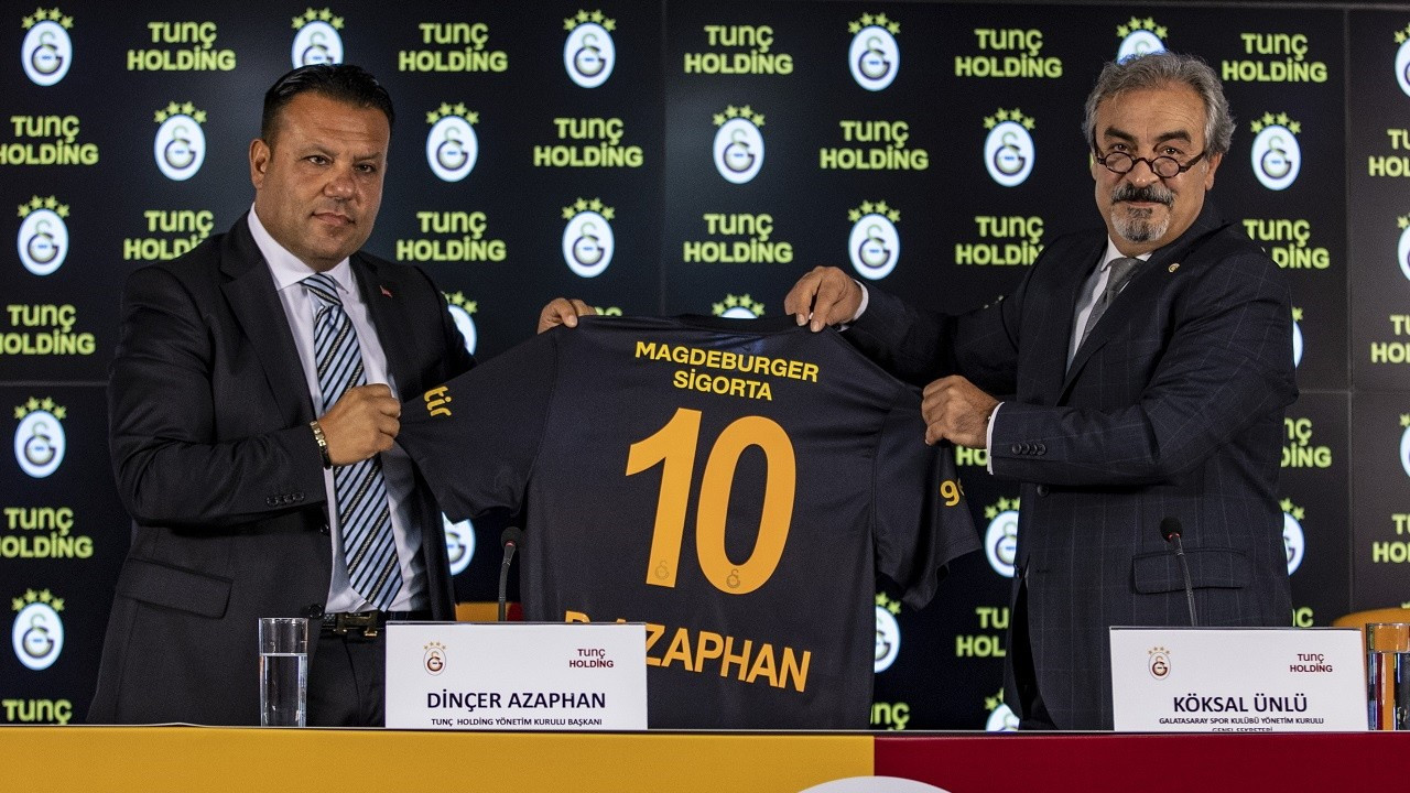 Galatasaray, Tunç Holding ile sponsorluk anlaşması imzaladı