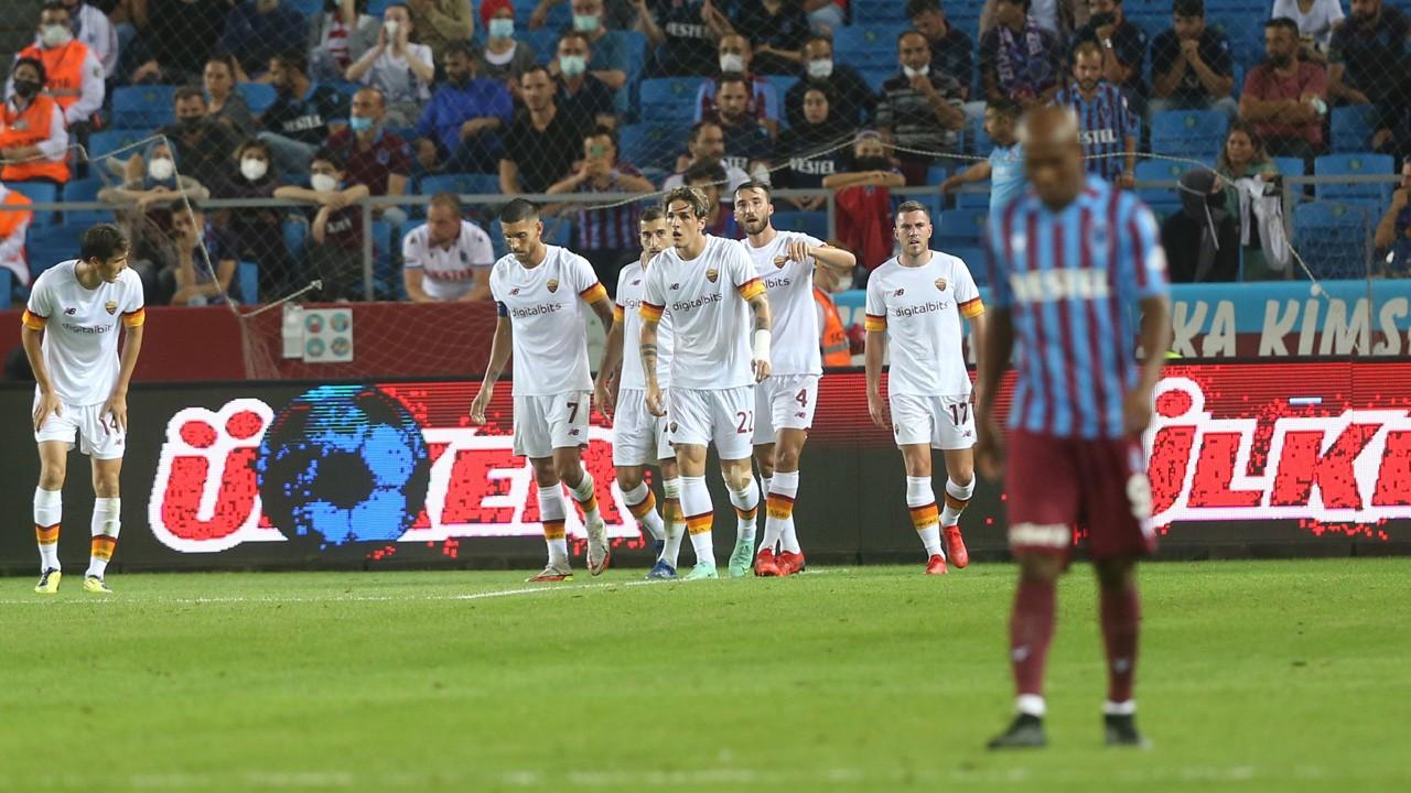Trabzonspor Roma'ya 2-1 yenildi