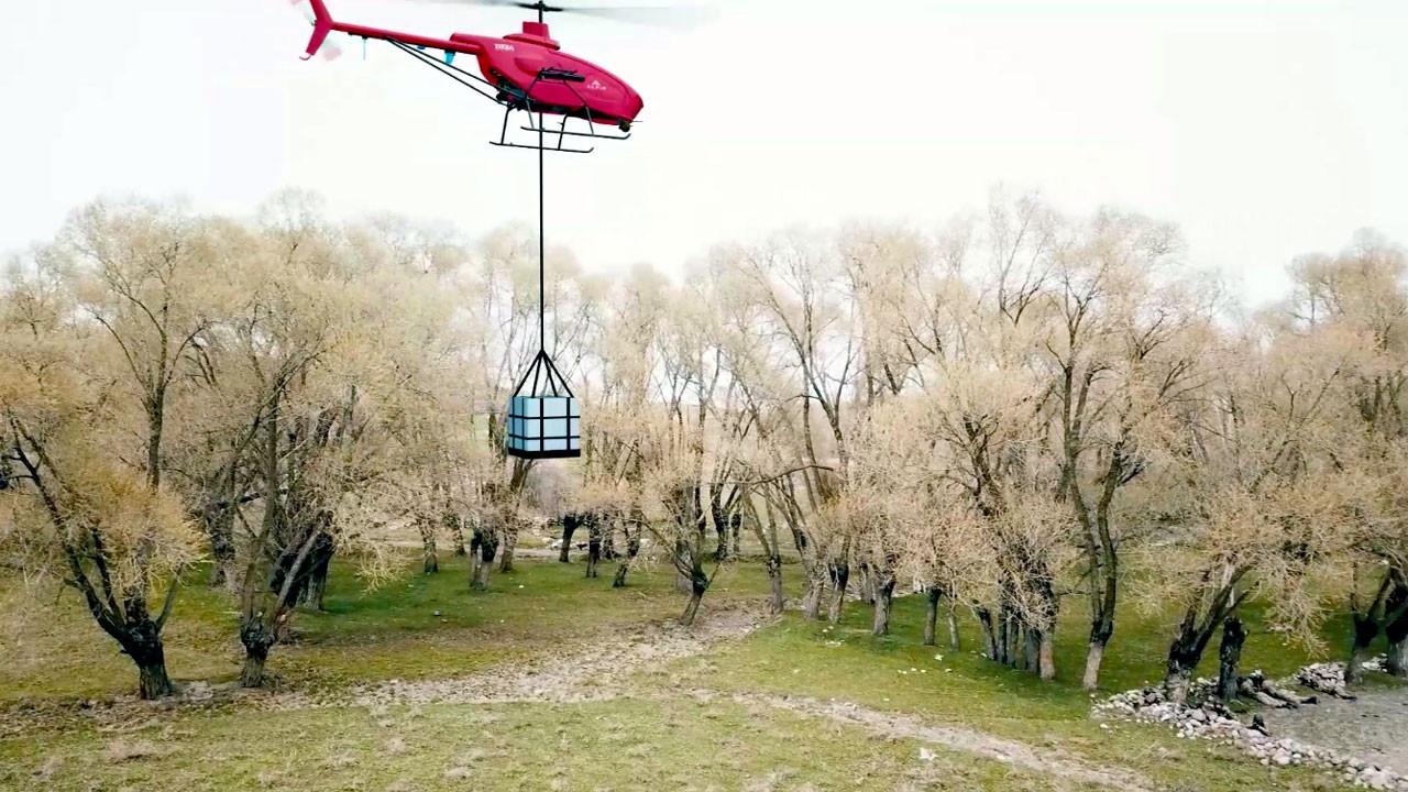 İnsansız helikopter Alpin, askeri görevler için güçlendirildi