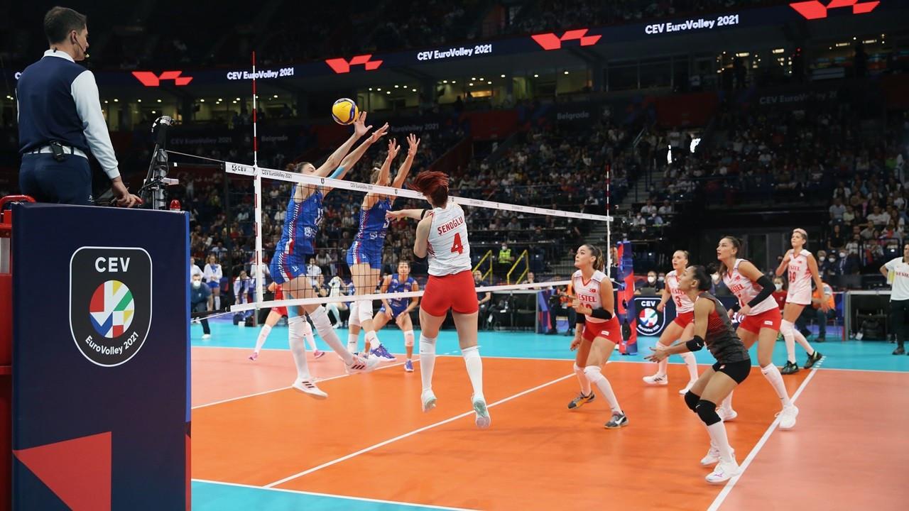 A Milli Kadın Voleybol Takımı, yarı finalde 3-1 kaybetti