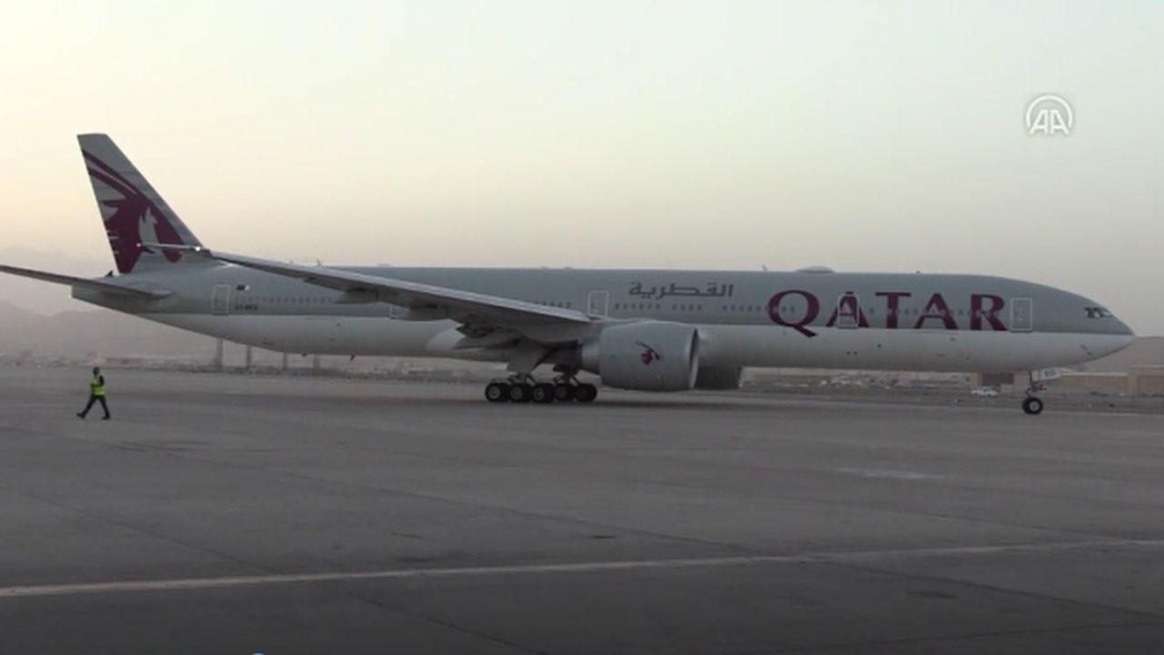 Kabil Havalimanı'ndan Taliban'dan sonra ilk sivil uçuş