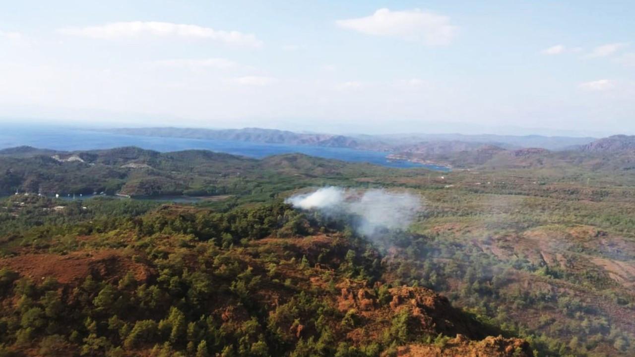 Marmaris'te yine orman yangını çıktı
