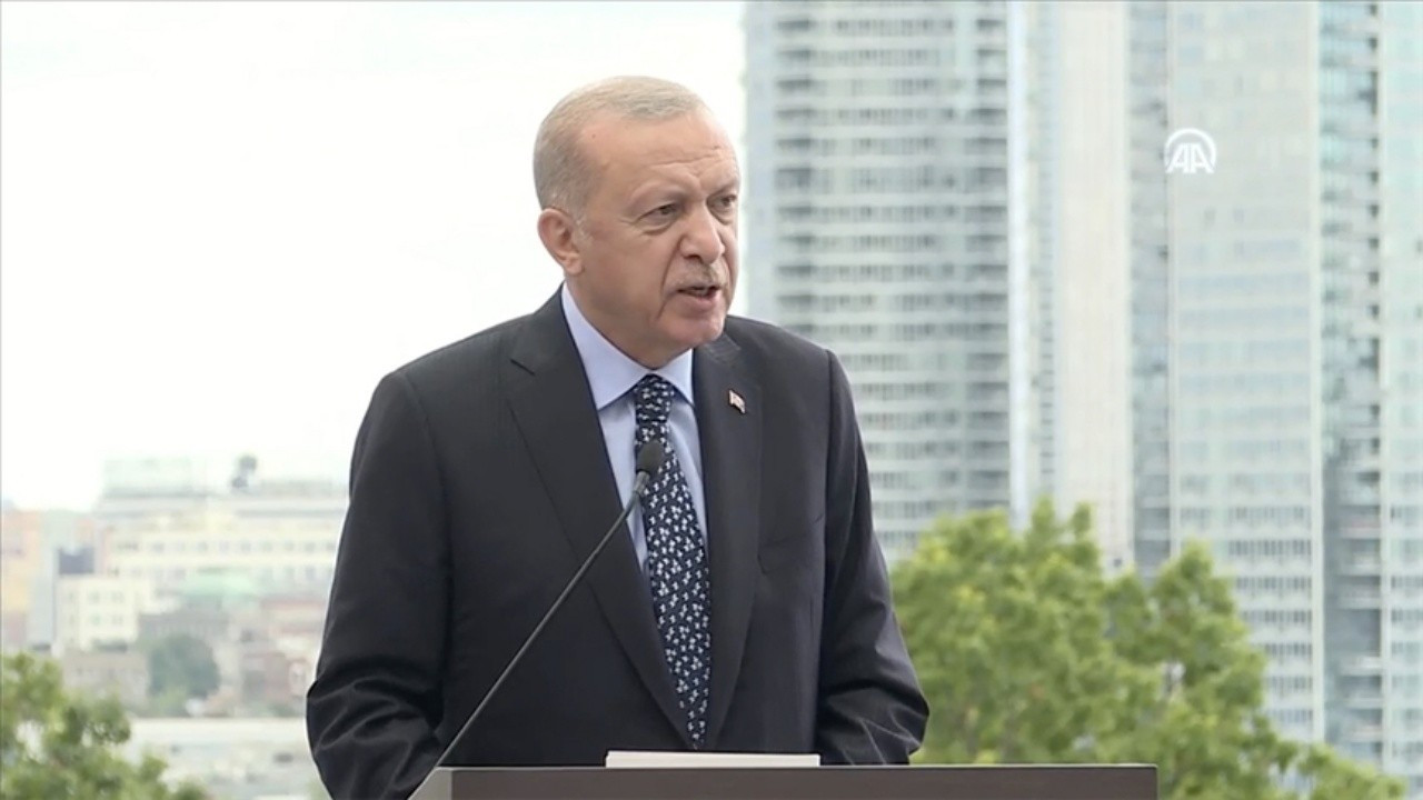 Erdoğan New York'ta Türkevi'nin açılış töreninde konuştu